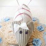 Hattie the mouse handmade pincushio..