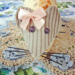 cute handmade orange floral mouse p..
