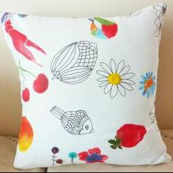 Kitsch and quirky handmade cushion.
